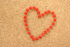 Red Heart Shape Royalty Free Stock Photos