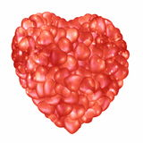 Red heart shape Royalty Free Stock Image