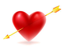 Red heart shape Stock Images
