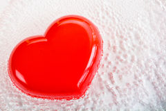 Red heart shape with bubble Royalty Free Stock Images