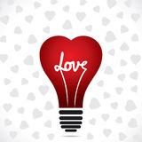 Heart bulb Royalty Free Stock Photography