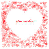 Red Heart shape card Royalty Free Stock Photos