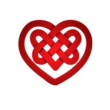 Red heart shape with celtic pattern.  Stock Photo