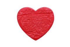 Red heart shape cookie in white background Stock Images