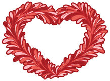 Red heart shape frame Stock Image