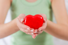 Red Heart Shape Health Love Support Stock Photography