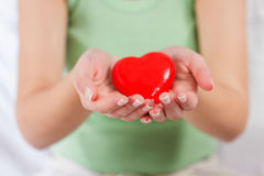 Red Heart Shape Health Love Support Royalty Free Stock Images