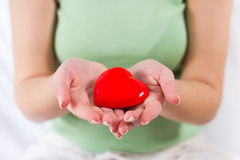 Red Heart Shape Health Love Support Royalty Free Stock Photo