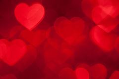 Red heart shape holiday background Stock Image
