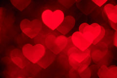 Red heart shape holiday photo background Stock Image