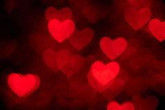 Red heart shape holiday photo background Royalty Free Stock Images