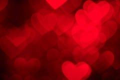 Red heart shape holiday photo background Stock Photo
