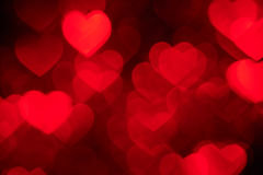 Red heart shape holiday photo background Stock Images