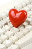 Red Heart Shape and keyboard Stock Images