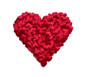 Red heart shape Royalty Free Stock Images
