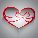 Red Heart shape Royalty Free Stock Photography