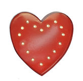 Red heart shape, symbol of love Royalty Free Stock Photos