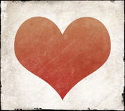 Red heart shape with texture Royalty Free Stock Photo