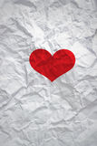 Red heart shape on white paper background, blank text Royalty Free Stock Image