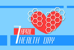 Red Heart Shape World Health Day Stock Photography