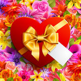 Red heart shaped Royalty Free Stock Photo
