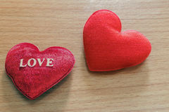 Red heart shaped. Royalty Free Stock Image