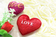 Red heart shaped. Royalty Free Stock Photo
