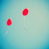 Red Heart-shaped balloons Royalty Free Stock Image