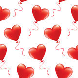 Red heart shaped balloons Royalty Free Stock Image