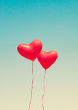 Red heart shaped balloons Stock Photography