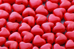 Red heart shaped beads Stock Image