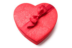 Red heart shaped box Royalty Free Stock Photo