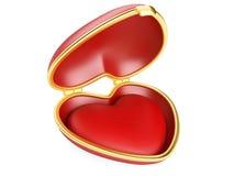 Red heart shaped box Royalty Free Stock Photo
