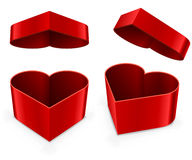 Red heart shaped box Stock Photo