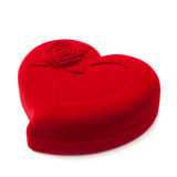 Red heart-shaped fancy box Royalty Free Stock Images