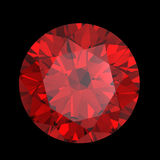 Red heart shaped garnet Royalty Free Stock Image