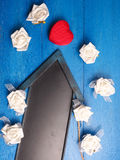 Red heart shaped gift box Royalty Free Stock Photography