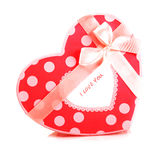 Red heart-shaped gift box Royalty Free Stock Images