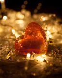 Red heart shaped gummy jelly sweets Royalty Free Stock Photography