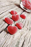 Red Heart Shaped Jelly Sweets Royalty Free Stock Photo