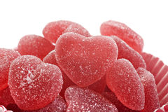 Red Heart Shaped Jelly Sweets Stock Photography