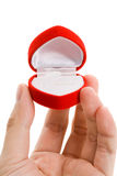 Red Heart Shaped Jewel Box Stock Image