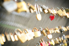 Red heart shaped lock Stock Photos