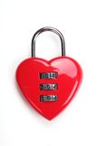 Red heart shaped locke Stock Photography