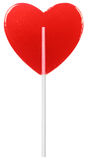 Red Heart Shaped Lollipop Royalty Free Stock Image