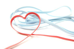 Red Heart Shaped Network Cable Stock Images