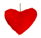 Red heart shaped pillow Royalty Free Stock Photography