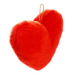 Red heart shaped pillow Stock Photos