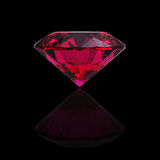 Red heart shaped ruby stock photos