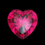 Red heart shaped ruby Royalty Free Stock Photography